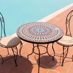 envio gratis mesa de mosaico árabe Legzira