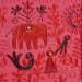 Tapíz India elefantes rosa