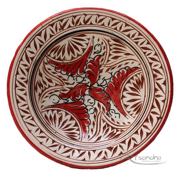 comprar plato de ceramica marroqu azima barato